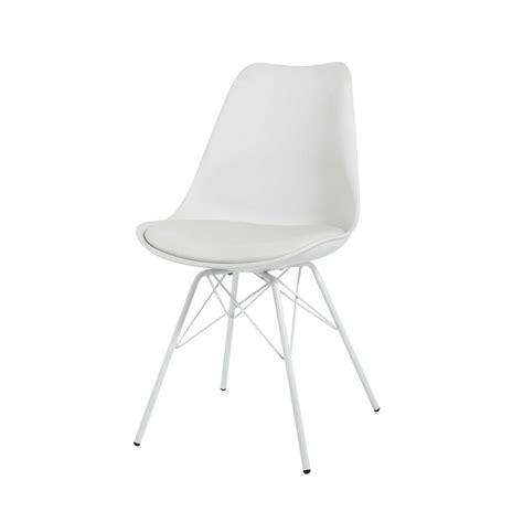 chaise et blanche chaise blanche en polypropylène et métal blanc coventry