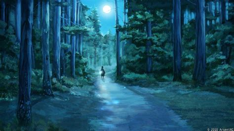 Anime Forest Wallpaper - anime forest backgrounds wallpaper cave