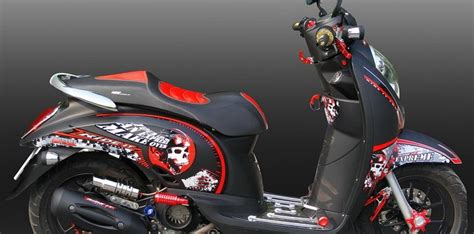 motor modif honda scoopy  expreme sticker  ride