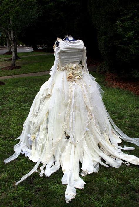 Tattered Victorian Steampunk Fairy Dress Set Wedding Gown