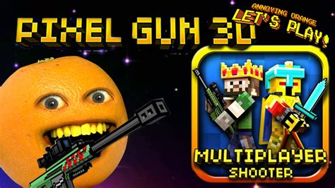 annoying orange plays pixel gun  slender bender