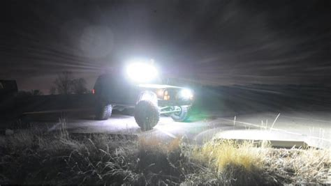 jeep light bar at night led lights change the way we use our 4wd spot lights