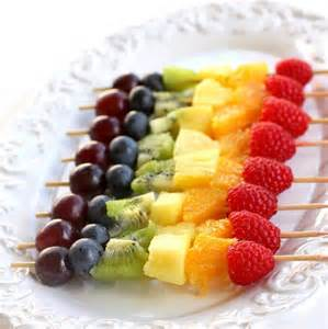 polo baby shower decorations rainbow fruit kabobs