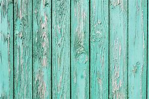 An, Old, Wooden, Wall, Painted, Turquoise