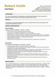Samples Of Skills And Abilities For Resume Yard Worker Resume Samples Qwikresume