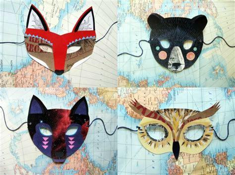 Faschingsmasken Selber Basteln by Tiermasken Basteln Aus Papier Und Filz Faschingsmasken