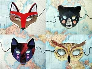 Fuchs Kostüm Selber Machen : tiermasken basteln aus papier und filz faschingsmasken selber machen fasching pinterest ~ Frokenaadalensverden.com Haus und Dekorationen