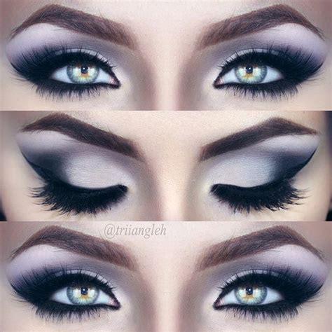 flawless eyeshadow smoky smokey eye makeup black and silver makeup vidalondon