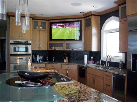 Large Builtin Tv In Kitchen  Yelp