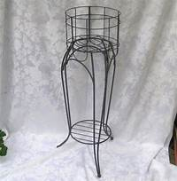 wrought iron plant stands Wrought iron tall plant stand fern stand shabby farmhouse