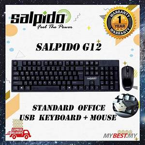 Salpido G12 Keyboard   Mouse Wired Combo Set