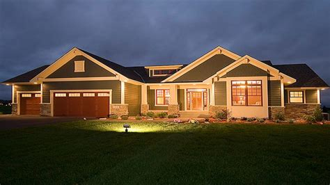 craftsman style house plans  ranch homes craftsman
