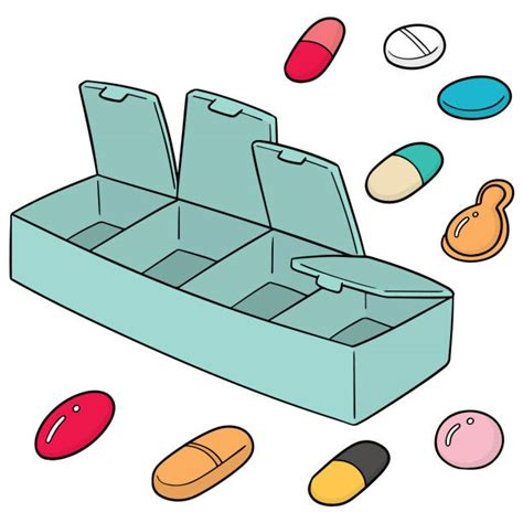 royalty  pill container clip art vector images