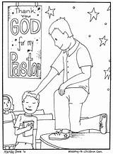 Coloring Appreciation Pastor Pages Children Church Month Sunday Ministry Gifts Sheet Colouring October Teacher Printables Crafts Pastors Anniversary Printable Churches sketch template
