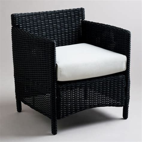 black all weather wicker dillion occasional chair with