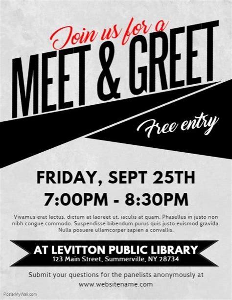 meet greet flyer postermywall event flyer templates