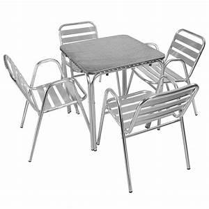 Table Et Chaise Bistrot : table et chaises terrasse restaurant en aluminium ~ Teatrodelosmanantiales.com Idées de Décoration