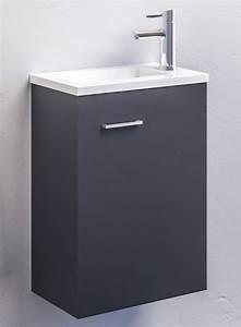 Meuble Gris Anthracite : ensemble meuble lave mains ancoflash anconetti gris anthracite ~ Teatrodelosmanantiales.com Idées de Décoration