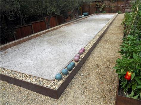 Backyard Bocce Court Dimensions by Concrete Backyard Bocce Court Bocce