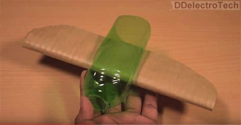 flying airplane  plastic bottle