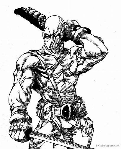 Coloring Deadpool Pages Deathstroke Popular