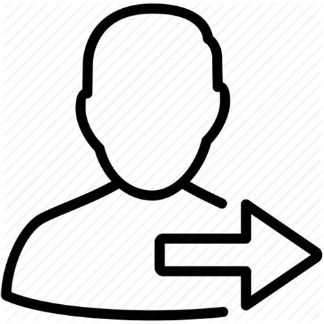 user away logout icon go log switch swap profile change account turn right follow following exit arrow icons forward line