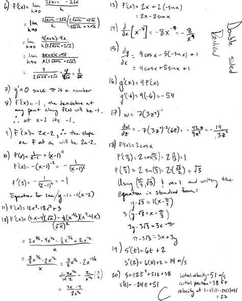 worksheets ap calculus worksheets opossumsoft worksheets