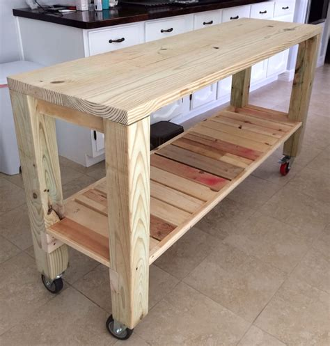 how to build a movable kitchen island diy moveable kitchen island country decor