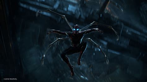 wallpaper avengers infinity war iron spider  movies