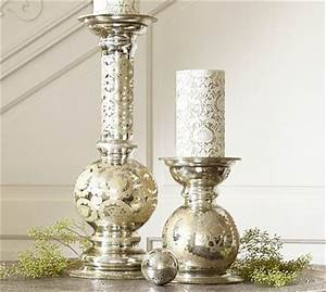 etched mercury glass pillar candle holder small With kitchen cabinets lowes with small pillar candle holders