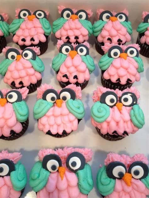 owl cupcakes  owl themed baby shower cakecentralcom