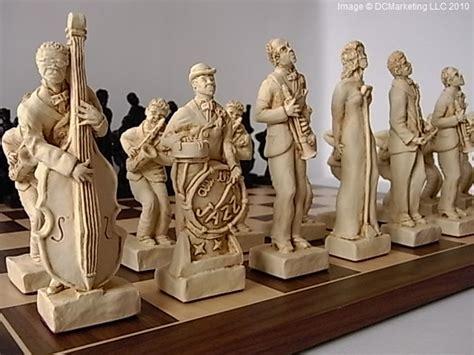 Jazz Plain Theme Chess Set