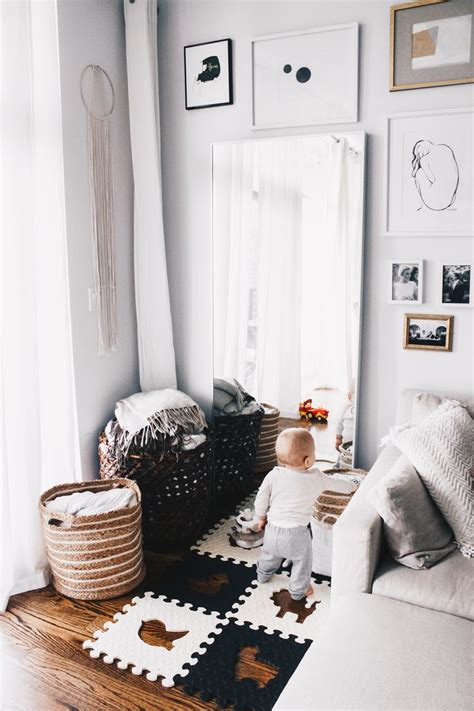create  baby play area  blends    living