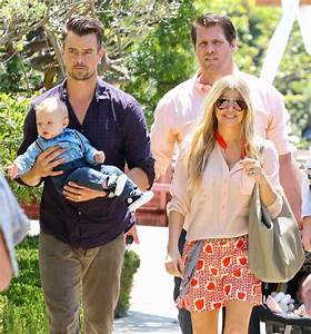 Fergie & Josh Duhamel Take Baby Axl to Easter Sunday ...