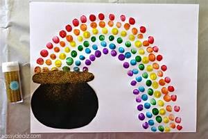 Fingerprint Rainbow Pot of Gold Craft For St. Patrick's ...