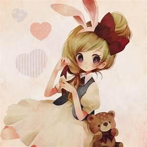 ANIME ART bunny girl. . .rabbit girl. . .rabbit ears ...