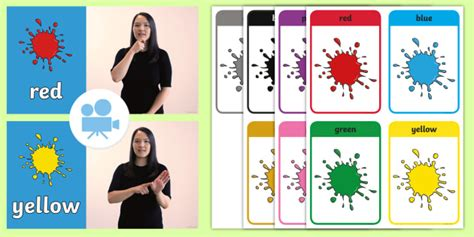 Colours British Sign Language (bsl) Video Pack