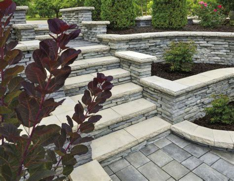 unilock retaining wall installation check out these units for retaining walls with a