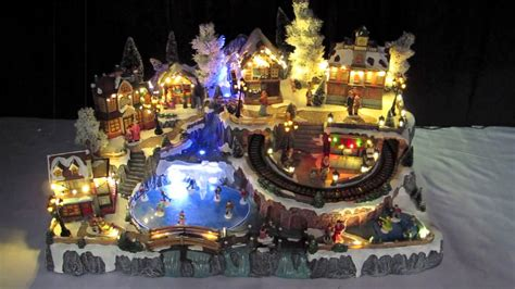 illuminated villages grand christmas town scene cm