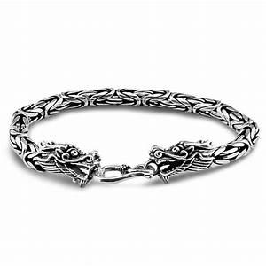 Bracelet En Argent Homme : bracelet homme argent chaine maille tresse dragon double tete bijouxstore webid 609 ~ Carolinahurricanesstore.com Idées de Décoration