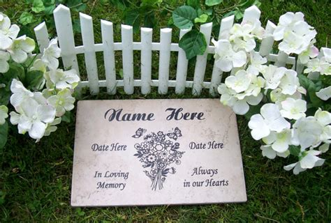 free shipping bouquet garden memorial plaque 12x8