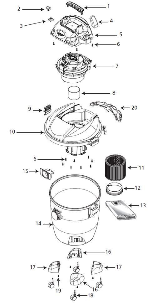Shop Vac Rta Vacuum Parts Repair Schematics