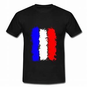 T Shirt Bleu Blanc Rouge : t shirt t shirt bleu blanc rouge homme noir drapeau de la france en peinture la france sur ta ~ Nature-et-papiers.com Idées de Décoration