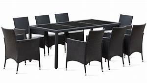 Table Resine Tressee : salon de jardin table r sine tress e 8 fauteuils ~ Edinachiropracticcenter.com Idées de Décoration