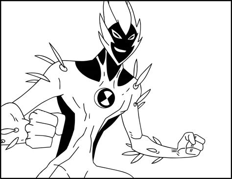 Fast Track Ben 10 Coloring Pages Printable Coloring Page
