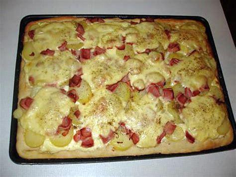 recette de pizza aux pommes de terre jambon blanc et