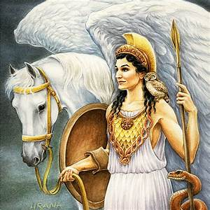 Mixed Media: Greek Mythology - Athena