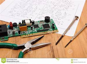 Printed Circuit Board  Precision Tools And Diagram Of
