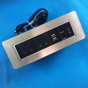 Aluminum Alloy Brushed Silver Uk Plug Multimedia