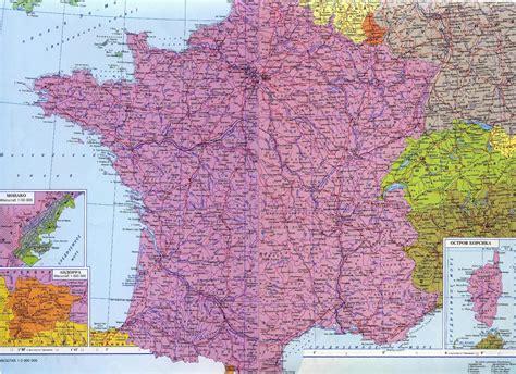 Карта Франции на русском языке с городами и провинциями подробно